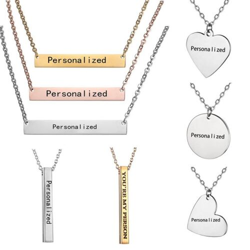 Jewellery - Personalized Engraved Custom Your Name Stainless Steel Necklace Pendant Jewelry