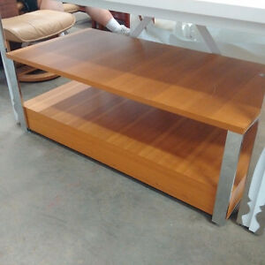 Low Tan & Silver Table - 2 avail Kitchener / Waterloo Kitchener Area image 1