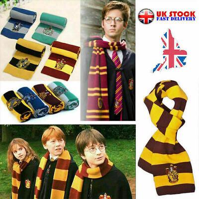 UK Harry Potter Scarf Slytherin-Ravenclaw-Hufflepuff-Gryffindor gift cosplay