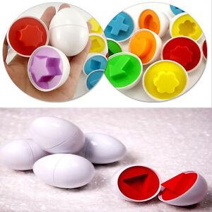 A Bag Of 6 Smart Pairings Eggs Shape Children Baby Blocks Educational Toys HOT