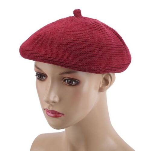 Women Sweet Warm Wool Winter Beret French Artist Beanie Hat Ski Cap Solid Hats