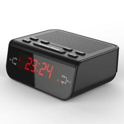Digital FM Radio Alarm Snooze Clock With Dual Alarm Sleep Timer Red LED Display