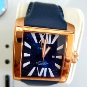 New-TW STEEL CEO GOLIATH BLUE DIAL  LEATHER STRAP MEN'S WATCH