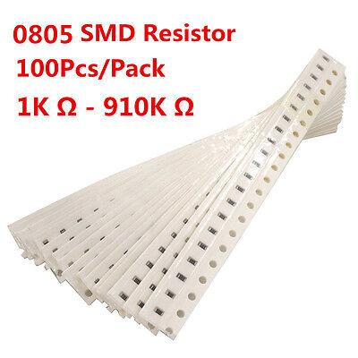 100pcs 0805 Smd Resistor Resistors 1k - 910k Ohm 1 Free Shipping