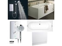 BRAND NEW HIGH QUALITY BATH & BRAND NEW MIRA SPORT MAX WITH AIRBOOST MANUAL ELECTRIC SHOWER