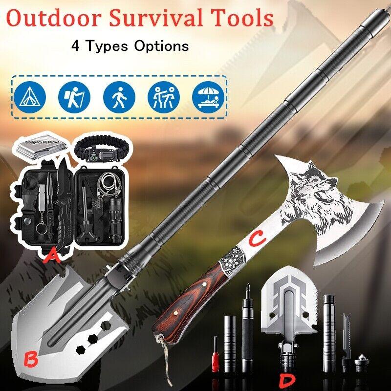 Camping Axe Hatchet Shovel Survival Kit Tactical Hunting EDC Emergency Gear Tool