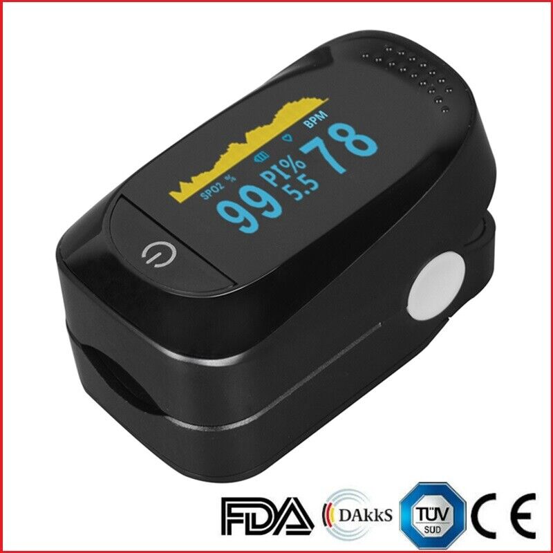 Finger Pulse Oximeter Heart Rate Spo2 Monitor Blood Oxygen Meter Sensor CMS50D Business & Industrial