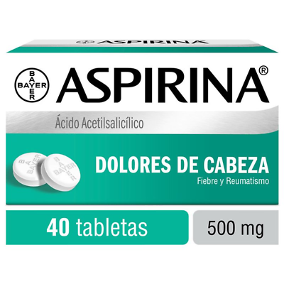 Aspirina / Aspirin 500 mg - 40 tablets  Authentic!