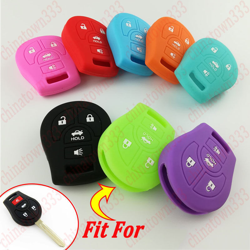 SILICONE SKIN COVER SHELL FIT FOR FORD FUSION FLIP REMOTE KEY CASE FOB 4 BUTTON