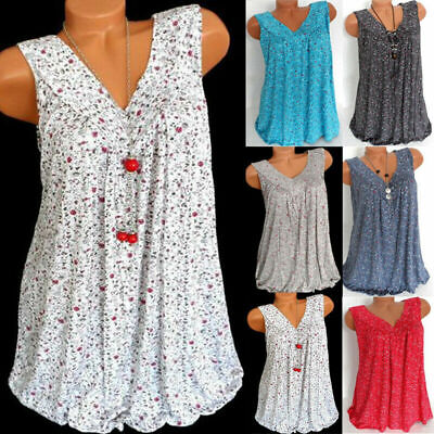womens plus size summer loose sleeveless vest