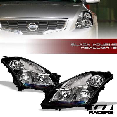 2007 Nissan Altima Sedan - For 2007-2009 Nissan Altima Sedan Black Clear Housing Headlights Signal Lamps Nb