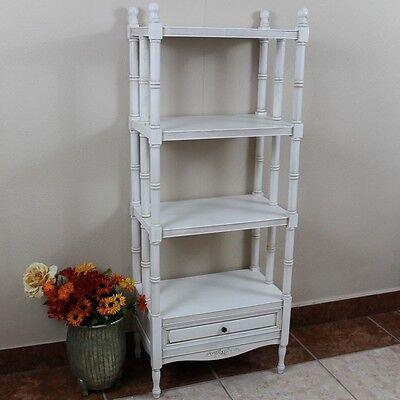 International Caravan Carved Wood Windsor 4-Tier Bookshelf, White