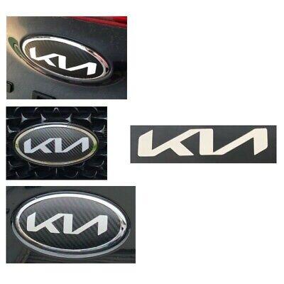 Emblem Sticker New Logo KIA Carbon Style 110mm X 56mm for Front Rear Emblem