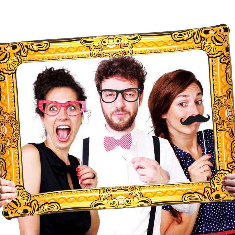 Giant Inflatable Blow Up Selfie Photo Booth Frame Photo Novelty Fun Party