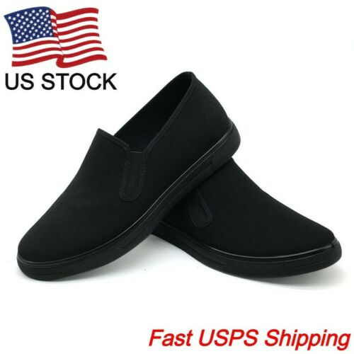 Unisex Traditional Old Beijing Kung-Fu Tai-Chi Cloth Shoes - Black Martial Art