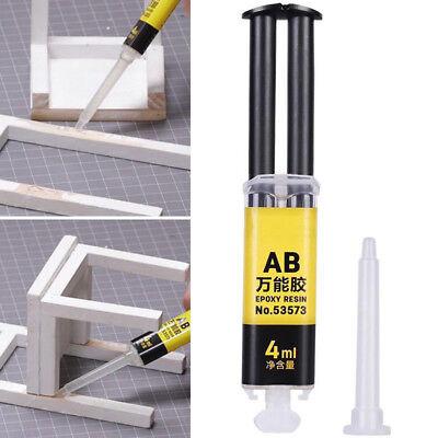 Universal Epoxy Resin AB Glue Strong Adhesive Repair Glass Ceramics Plastic 4ml ()