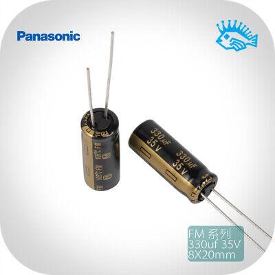 35v 330uf Panasonic Fm Low Impedance Fever Audio Electrolytic Capacitor 8x20