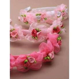 HEAD BANDS ROSE BUDS
