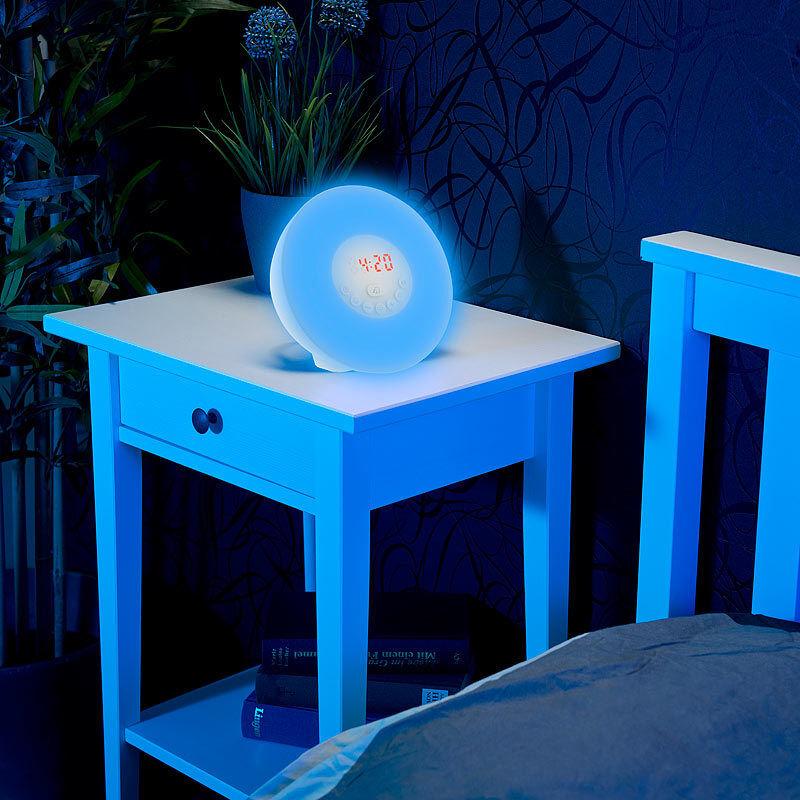 lichtwecker wake up led radiowecker mit bluetooth. Black Bedroom Furniture Sets. Home Design Ideas