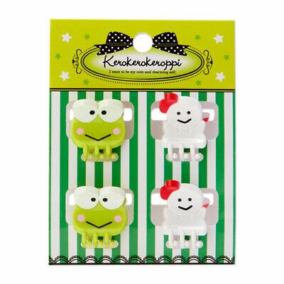 Kero Kero Keroppi Frog mini hair clip 4pcs set Sanrio Kawaii Gift NEW