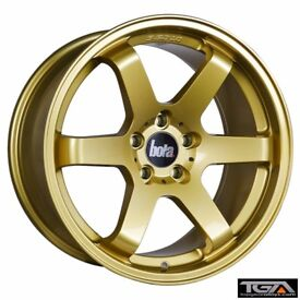 "18"" Bola B1 Gold for 5x112 VW Audi Seat Etc"
