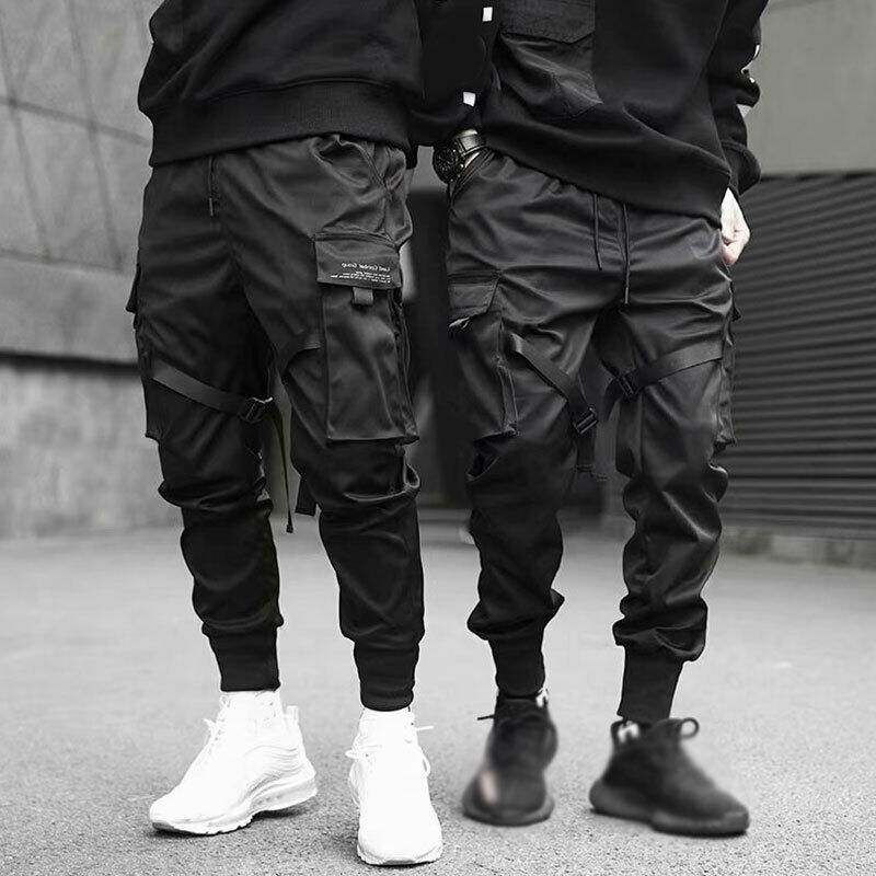 Men Casual Streetwear Joggers Cargo Pants Sweatpants Combat Sport Urban Trousers