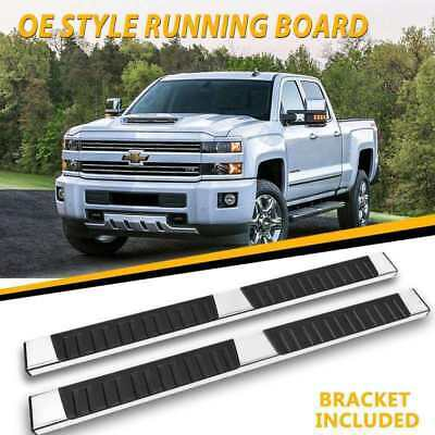 "For 07-18 SILVERADO/SIERRA DOUBLE CAB 6"" NERF BAR SIDE STEP RUNNING BOARD OE"