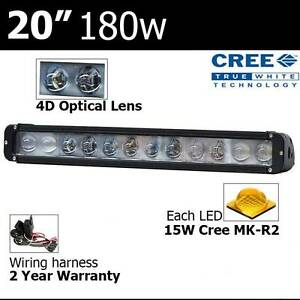 "20"" 180w cree Led Light bar 4D Projection lens's lightbar 4x4 tru Wangara Wanneroo Area Preview"