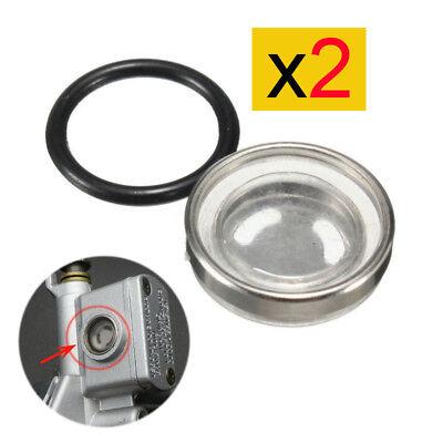 2X Roller Motorrad Schauglas Bremspumpe Bremszylinder 18 mm mit Dichtung