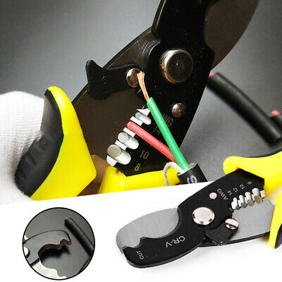 Automatic Wire Stripper Pliers Cable Stripping Cutter Durable Crimper Crimp Ses