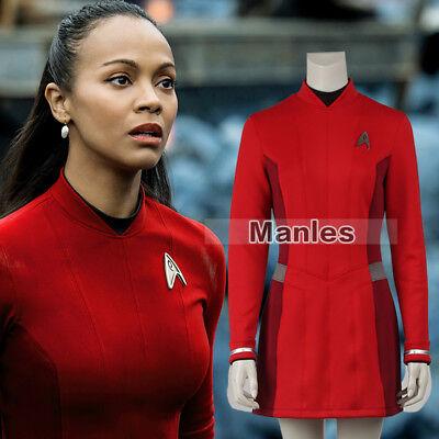 Star Trek Beyond Uhura Cosplay Costume Female Women Uniform Girl Dress Badge
