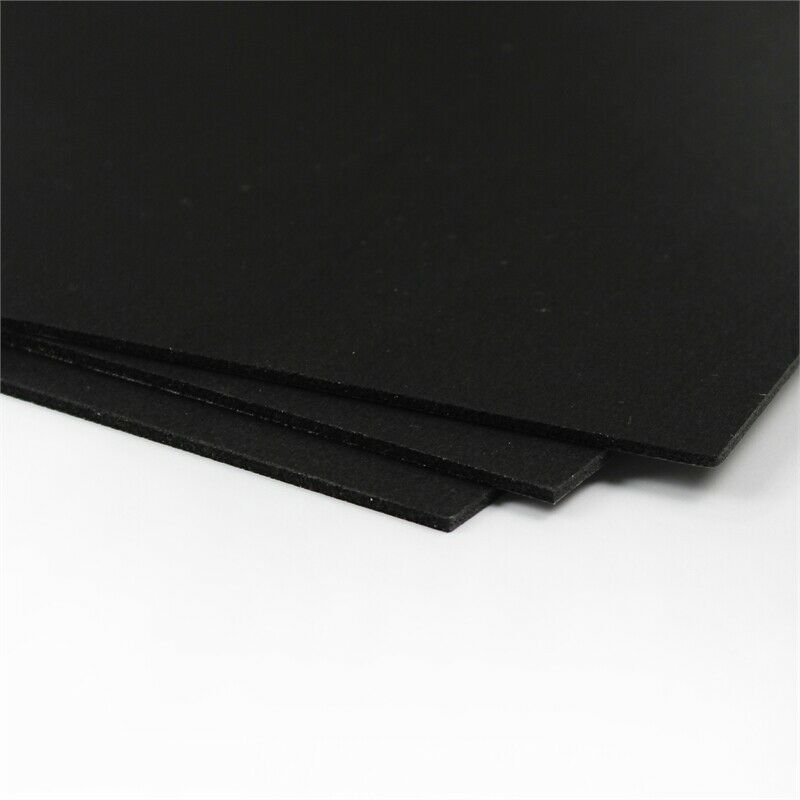 CraftTex Bubbalux Craft Board Midnight Black 2 Packs of 3 Letter Size Sheets
