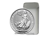 Tube of 25x 2017 1oz Silver Britannia coins for sale