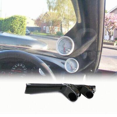 For Nissan Skyline R32 GTS GTR OE Tape Carbon Greddy A-Pillar Twin 52mmGauge Pod