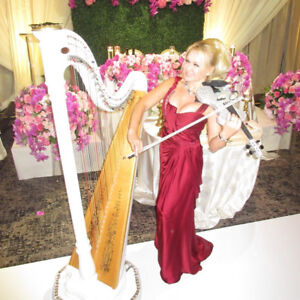 Electric Violinist/Harpist Solo Act - Weddings & Events Toronto