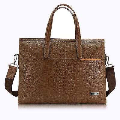 Fashion Men's Genuine Leather Briefcase Business Handbag Casual Shoulder Bag New