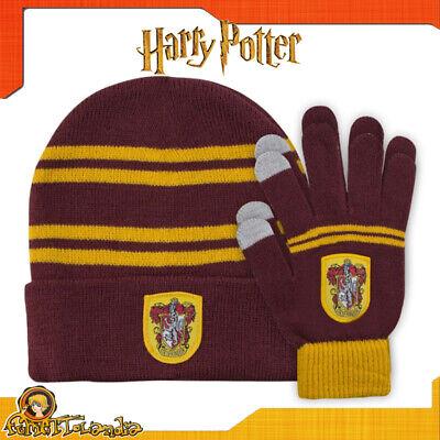 Sombrero Y Guantes De Harry Potter Grifondoro O Gryffindor Hat Gorro para...