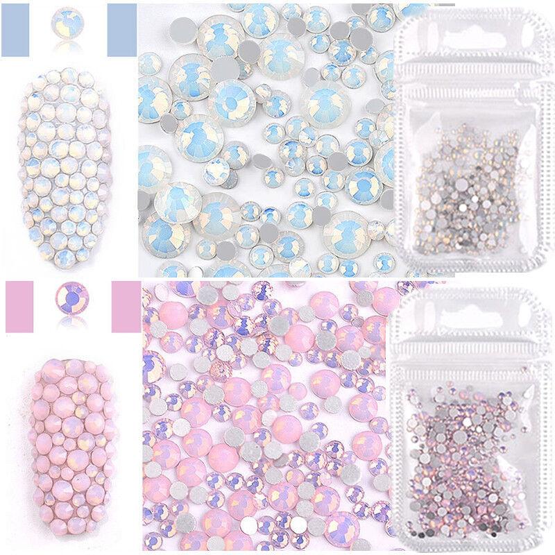 Pink White Opal Rhinestones