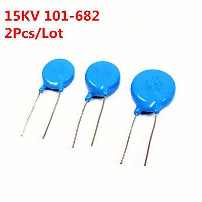 2pcs 15kv 102 103 221 222 471 472 681 101-682 K High-voltage Ceramic Capacitor