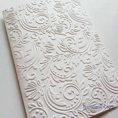 5 Blank Embossed Flourish Cards & Envelopes Wedding invitations party invitation