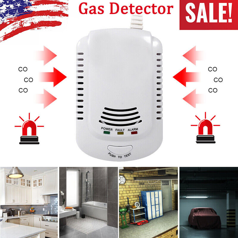 Combustible Gas Leak LPG Natural Gas Detector Propane Alarm For Home Safety