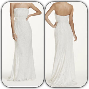 Allover beaded sheath lace gown