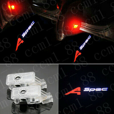 2x A-spec Logo LED Door Courtesy Laser Projector Light For Acura MDX RLX TLX ZDX