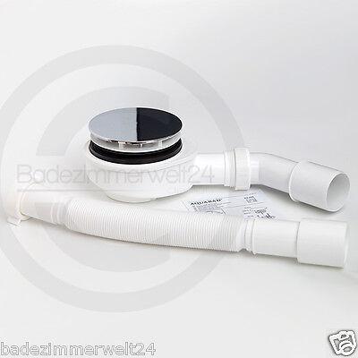 Aquabad® extraflache Ablaufgarnitur, Ø90mm Siphon, Dusche, Duschwanne