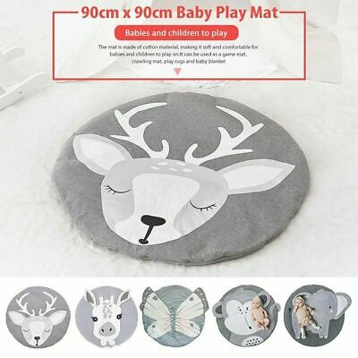 Soft Cotton Baby Kids Game Gym Activity Play Mat  Crawling Blanket Floor Rug 5F