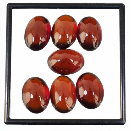 7 Pcs Natural Hessonite Garnet 16.76mm-17.42mm Top Quality Cabochon Gemstones