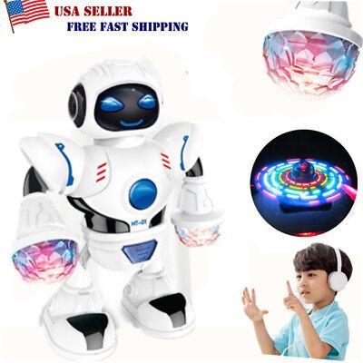 Toys for Kids Toddler Walking Dancing Robot Music LED Light Electronic Xmas Gift ()