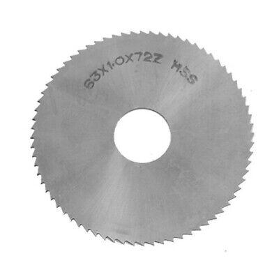 Equipment Slitting Saw Tool 2.5 Diameter Blade Milling Silver Hss Round