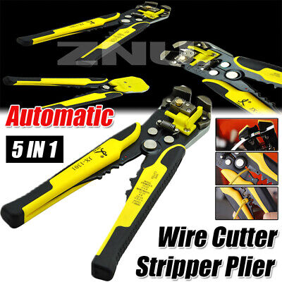 Electrical Auto Wire Cutter Stripper Plier Cable Crimper Terminal Tool Metal Usa