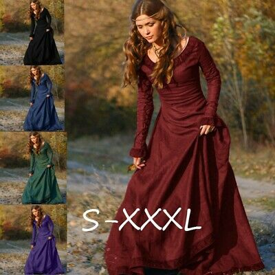 Renaissance Clothing Women (Medieval Renaissance Vintage Women Long Dress Gown Victorian Cosplay Costume)